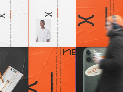 Nex Consulting design alternative typography typo type logo letters branding