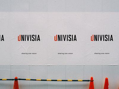 Univisia identity design typography typo type logo branding