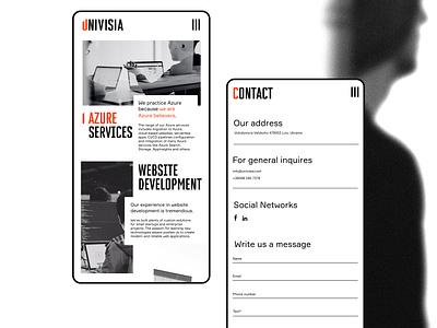Univisia mobile web typography typo type logo branding