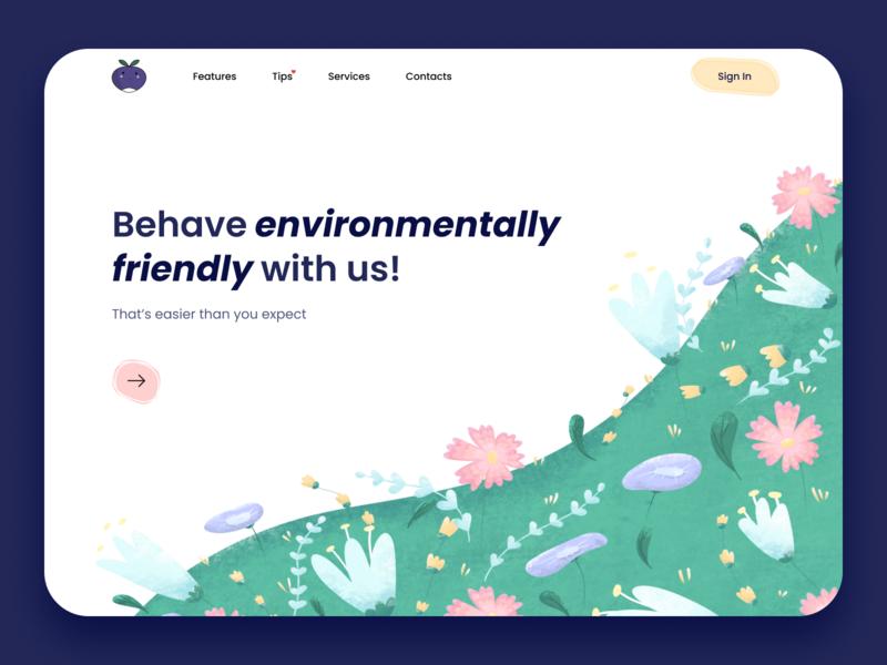 Environmental awareness website estonia drawing art website designs web uiux ui typogaphy procreate interface illustraion graphic design etheric environment ecology design agency