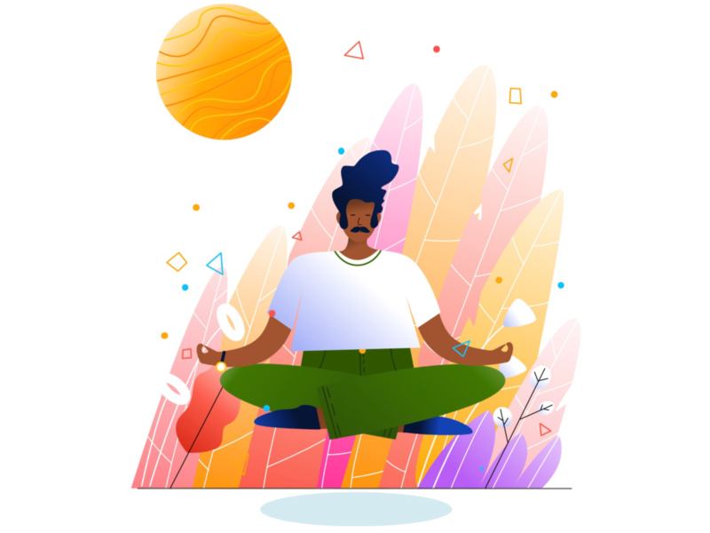 Calm meditation calming man person calm drawing etheric agency illustration