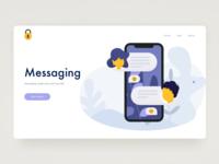 Messaging Web Concept