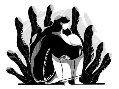 Having fun with a shadows shadows shadow creative fashion girl clean drawing procreate etheric agency illustration
