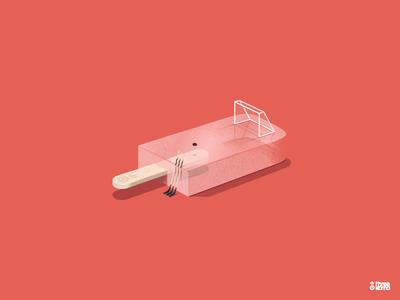 Puck digital art freelance illustrator graphic designer illustration graphic design graphiste hockey icehockey icecream glace palet puck