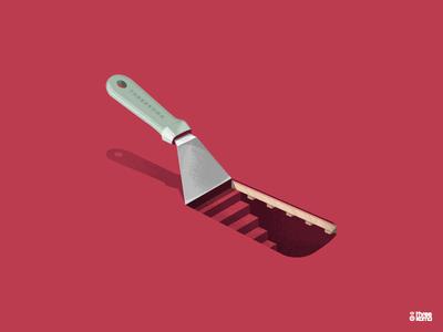 Offset vector digital art freelance graphic designer graphic design graphiste graphicdesign illustrator illustration food cook tool spatula offset