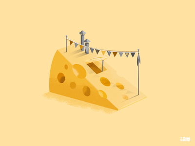 Cheese vector digital art illustrator illustration graphic design graphiste eat stayhome maison home fanions aliment food fromage cheese