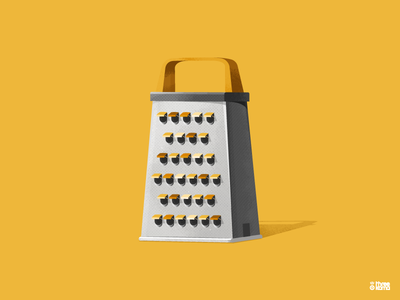 Grater design graphic designer vector digital art illustrator graphic design illustration graphiste yellow fromage cheese rappe grater