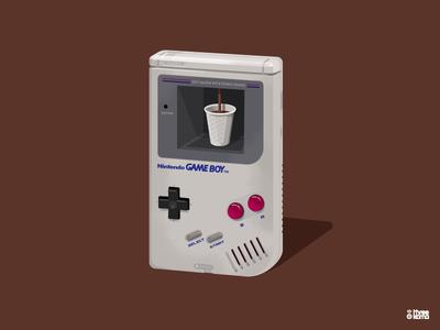 Dispenser graphic design graphiste vector digital art illustrator graphic designer illustration distributeur cafe coffee nintendo videogame retrogaming gameboy