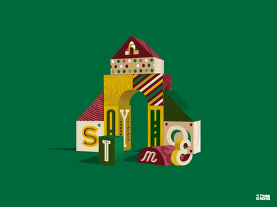Blocks II graphic design vector threekoma illustrator digital art graphic designer design illustration toy play cubes blocks