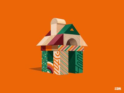 Blocks III design threekoma vector graphic designer illustrator digital art illustration graphiste toys play toy cubes blocks