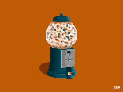 Candy freelance design digital art illustrator eyes illustration