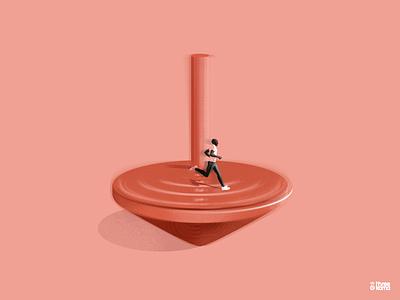 Run freelance illustrator run digital art illustration ill
