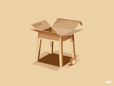 Stool digital art freelance illustrator illustration stool