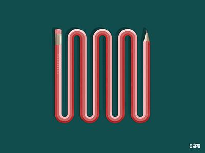 Pincil freelance digital art illustrator illustration pencil pincip