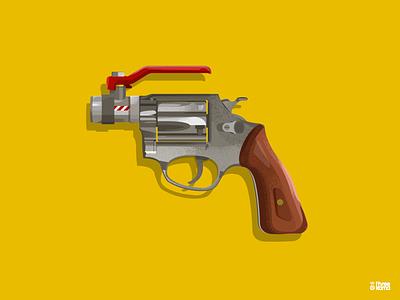 Tap Gun digital art freelance graphic designer illustrator illustration water gun tapgun