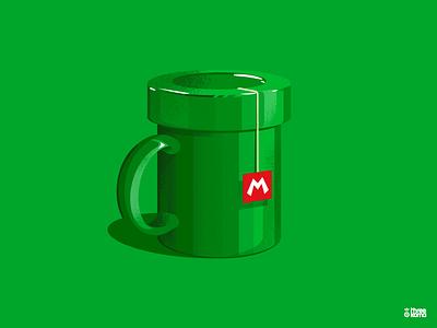 Mug freelance digital art illustrator illustration mario mariobros mug