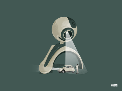 E.T graphiste graphicdesign 2cv citroen webcam extra terrestre