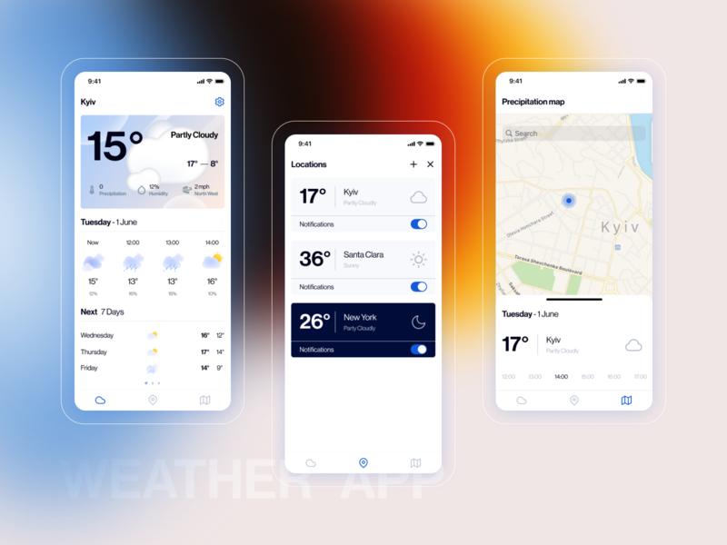 Simple weather minimal minimalism map ux uiux ui application mobile weather ios app