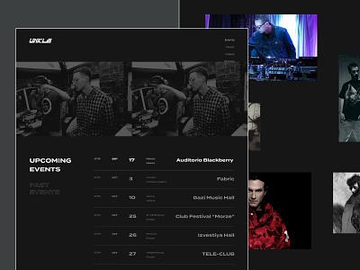Unkle - Events / Photos web pages music djshadow dj triphop black unkle lavelle minimalism mowax design