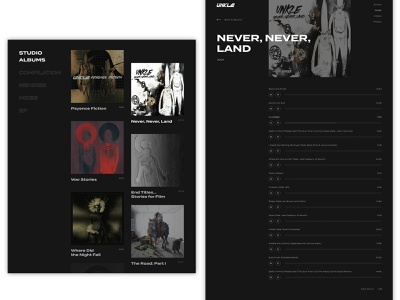 Unkle - Music shots albums adobe xd mowax lavelle ui aftereffects music djshadow unkle triphop minimalism design