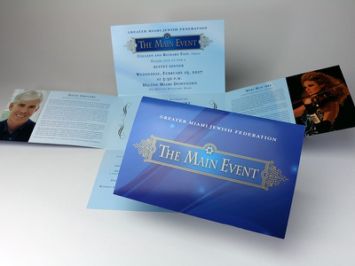 The Main Event Invitation branding print design invitation randy burman ikon