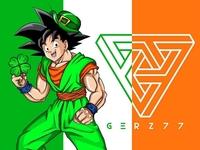 St.  Patrick's Day Goku By Gerz77