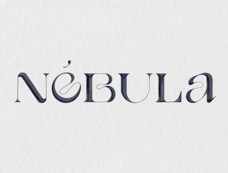 Nébula   Lettering exercise   procreate typography letter illustration typedesign logo procreate type art letterer design graphic deisgn letterform lettering