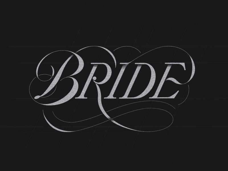 Bride lettering   procreate typography love ornaments bride art procreate letters logo letterer graphic deisgn letterform lettering design