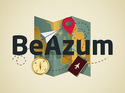 BeAzum travel logo