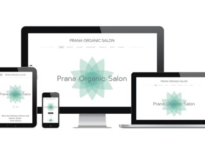 Prana Organic Salon Mobile & Web Design illustrator identity design branding logo design web design graphic design
