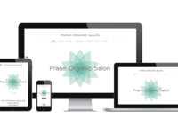 Prana Organic Salon Mobile & Web Design
