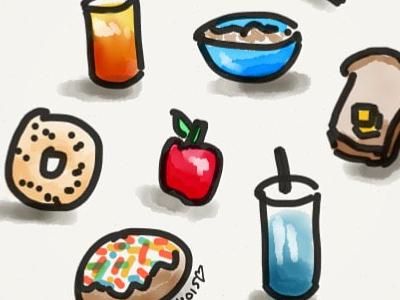 5 Minute Breakfast Doodle paper by 53 quick sketch illustration digital art
