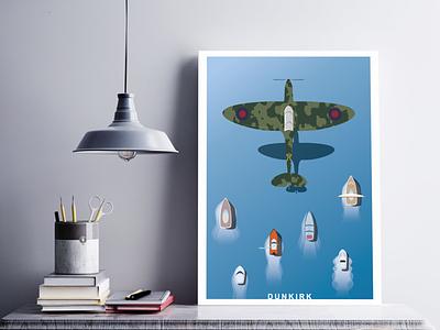 Dunkirk nolan dunkirk design movie art poster illustration