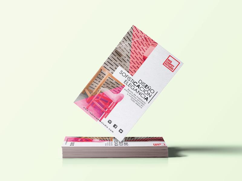 Flyer Red Carpet identiy brand designer print design