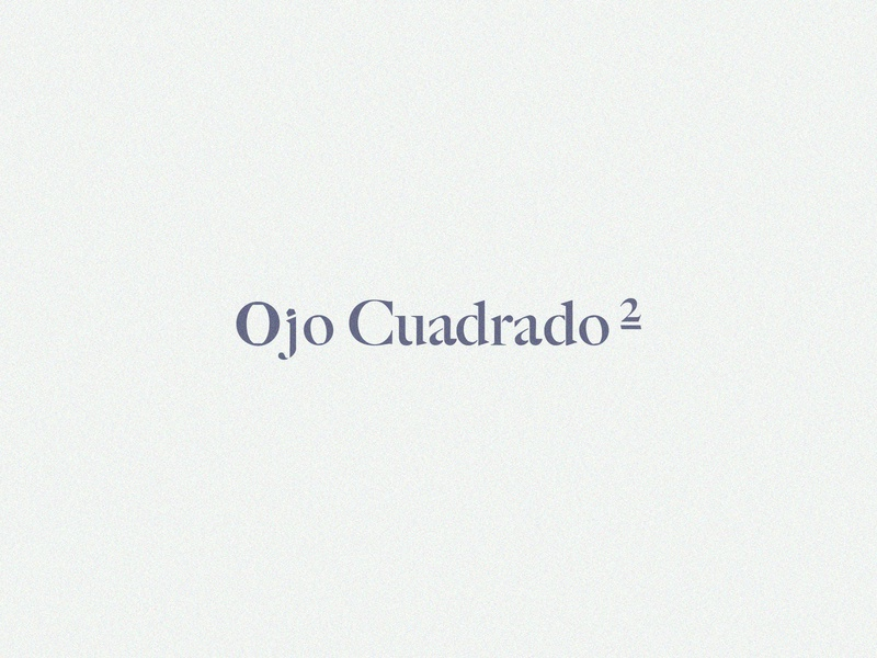 Ojo Cuadrado III branding design branding logotype design drawing