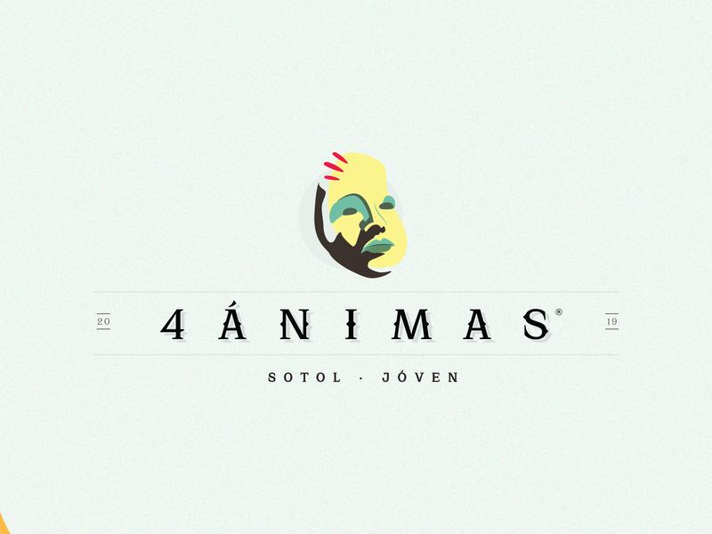 4 ANIMAS LOGO logodesign design art logotype branding brand logo design logo