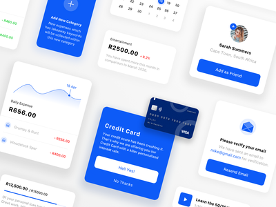 UI Modal Exploration - Finance blue finance app modal finance icon minimal flat ux ui