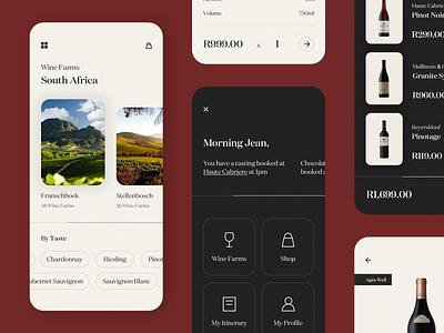 Wine App 2 - Exploration black texture modern design icon ecommerce minimal flat application app uidesign ux ui