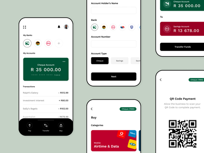 All-In-One Banking App branding modern minimal flat application payments banking ux ui app design app