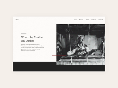 Weave Masters - Layout Exploration typography simplistic modern minimal video about layout uidesign ui ux design ux
