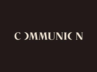 Communion Wordmark communion romana moon identity branding wordmark logo