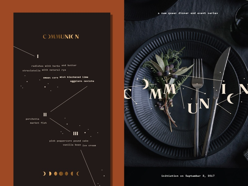 Communion Collateral romana communion moon system identity branding