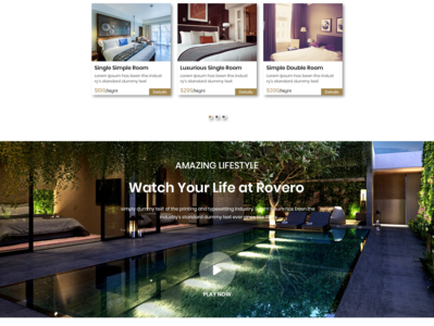 Hotel & Resort Web UI Design