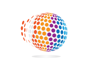 3D Circle Pixel Logo Design break
