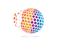 3D Circle Pixel Logo Design break
