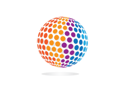 3D Circle Pixel Logo Design