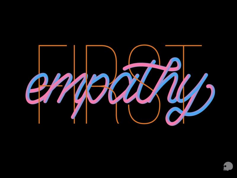 Empathy first blacklivesmatter empathy vector graphic typography illustration lettering