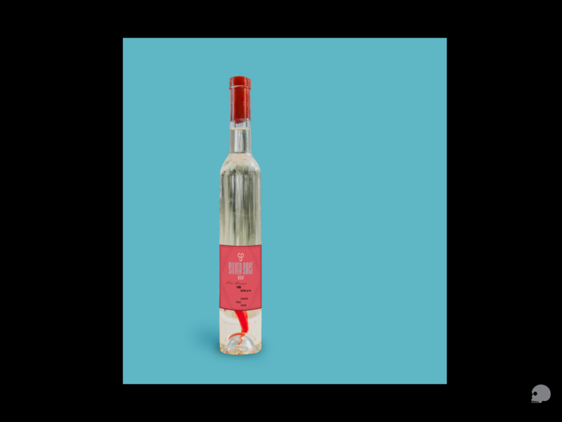 the Flame graphicdesigner design branding artdeco logo typography photoshop graphic packaging label brand silversagewinery mockup bottle wine flame
