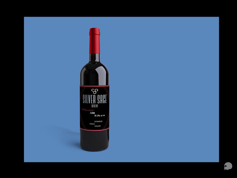 Merlot bottle Mock Up logo design photoshop vector illustration branding brand typography art deco graphic packaging wine label mockup wine bottle