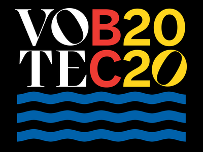 BCVote 2020 blue and white yellow blue waves macklin font adobe illustrator design illustration graphic vector typography 2020 bc vote